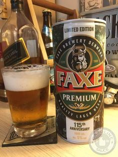 Geladas - Faxe Premium - GASOLINE SAUCE Best Beer, Cool Bikes, Craft Beer, Brewery, Beverages, Advertising, Canning, Nostalgia, Relax
