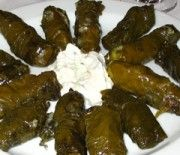 Stuffed vineleaves with rice and meat