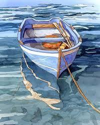 Resultado de imagem para aquarelle sea with sailboat