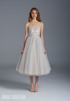 Paolo Sebastian Spring/Summer Collection - Brisbane Wedding Weekly - Tea length, delicate and detailed.