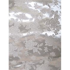 "Solid Silver Tone on Tone Floral Satin Jacquard Fabric Similar to the Eversong Brocade Suitable for Dresses, Bridal, and Special Occasions 100% Polyester 60"" WideThis fabric is only available by the boltNo samples are available16 YARD BOLT"