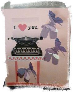 """Tarjeta """"I love you"""""""