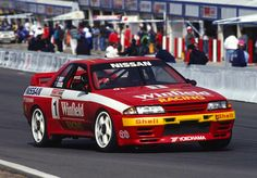 """legendsofracing: """"The Nissan Skyline GT-R (R32) of Jim Richards and Mark Skaife that brought them victory in the 1992 Tooheys 1000. """""""