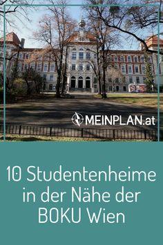 Als BOKU-Student auch nahe der Uni wohnen? 10 Studentenheime rund um die Uni für Bodenkultur Wien ermöglichen das. Unsere Übersicht zeigt dir Entfernungen in Geh-, Rad- und Öffi-Minuten. Mansions, House Styles, Home Decor, Student Home, Student Dormitory, Mutual Activities, Green Life, Single Bedroom, Round Round