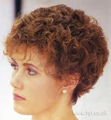 short curly hairstyles for gray hair - Google Search