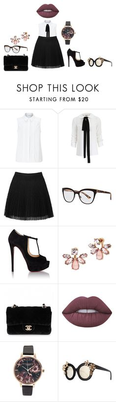 """"""""""" by lena1612 ❤ liked on Polyvore featuring John Lewis, Michael Kors, Topshop, Christian Dior, Christian Louboutin, Marchesa, Chanel, Lime Crime, Olivia Burton and Alice + Olivia"""