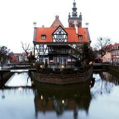 """""""""""The chocolate mill reflection"""" - Gdańsk, Poland - • Paulinette - Canon 700D • -------------------- #gdansk #gdańsk #gdansk_official #poland #polish…"""""""