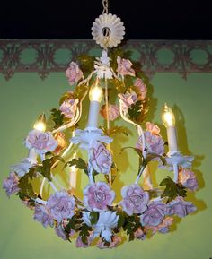 Vintage Capodimonte chandelier