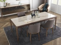 A simplistic modern design goes a long way in establishing elegance and sophistication in home décor. 8 Seater Dining Table, Glass Top Dining Table, Dining Table Design, Dining Bench, Dining Chairs, Dining Room, Best Dining, Mid Century Furniture, Decoration