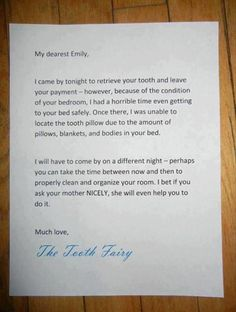 Well played, Tooth Fairy. Well played.