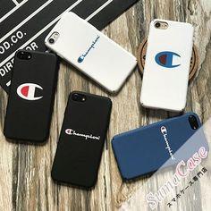 Champion(チャンピオン)ブランド ピュアカラー ロゴモチーフ シンプル ストリート風 お揃い スクラブ カバー型 PCハードケース for iPhone8/7S/7/6S/6/Plus