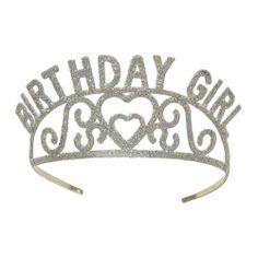 Can this Glittered Birthday Girl Tiara make a birthday diva smile....#impressed
