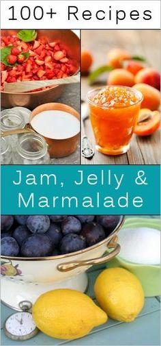 100+ Homemade Jam, Jelly  Marmalade Recipes -  http://tipnut.com/homemade-recipes/