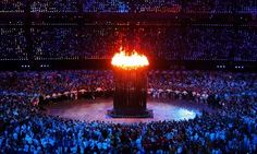 The Olympic cauldron looked really amazing!
