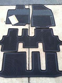 NEW OEM 2013 2017 NISSAN PATHFINDER BLACK 4PC RUBBER ALL WEATHER FLOOR MATS