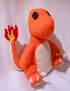 Charmander felt plushie! Handmade by me. Check out my etsy shop.