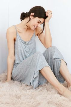 Out From Under PJ Cropped Jumpsuit - Urban Outfitters