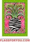 Zebra Pineapple Garden Flag