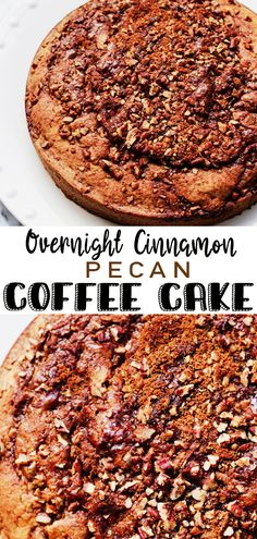 Overnight Cinnamon Pecan Coffee Cake -The most perfect cake for Christmas morning. This very easy to make batter is topped with the most delicious cinnamon pecan topping. Prepped the night before, it smells heavenly baking on Christmas morning. #cinnamon #pecan #coffee #cake #foodie #dessert #coffeeshop #breakfast #food #cafe #birthday #yummy #pie #love #pecanpie #travel #chocolate #latte #yum #georgia #foodporn #espresso #coffeetime #delicious #vegan #homemade #pecans #photography Sweets Recipes, Cupcake Recipes, Cupcake Cakes, Cooking Recipes, Desserts, Cinnamon Pecans, Cake Board, Holiday Cakes, Paula Deen