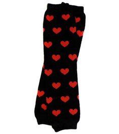 Mi Amor Red Hearts Baby Leg Warmers