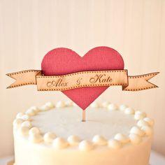 Tul y Flores · Inspiración para tu boda: Vuestro nombre en la cima de la tarta