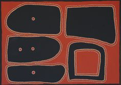Billy Duncan / Moornboo River  (2008) 140 x 100cm, ochre on canvas