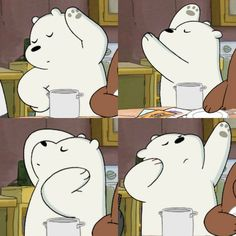 We Bare Bears the best poses #icebear #pose #modeling""