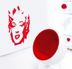 Vinilo Decorativo Pared Marilyn Monroe Pop Art