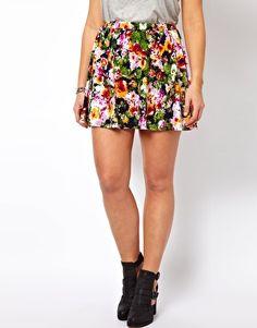 Image 4 ofASOS CURVE Skater Skirt In Floral