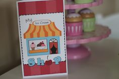 I is for Ice Cream- pretend play-- preschool ice cream store / playing house. Ice Cream Theme, Love Ice Cream, Preschool Kindergarten, Toddler Preschool, Prop Box, Early Childhood Activities, Plastic Buckets, Dramatic Play, Classroom Resources