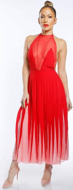 Jennifer Lopez in Jewelry – H Stern Dress – Valentino Shoes – Christian Louboutin