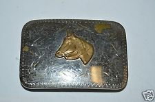 WOW Nice Vintage 1960s Equestrian Horse Head Cowboy Western Belt Buckle RARE