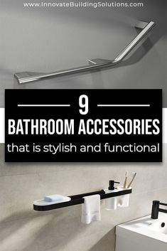 Here are some stylish and functional bathroom project ideas you can use in your bathroom! Read more here! Grab Bars In Bathroom, Small Bathroom, Bathrooms, Waterproof Shower Wall Panels, Innovation, Bath And Shower Products, Faux Stone Panels, Tub Enclosures, Shower Accessories