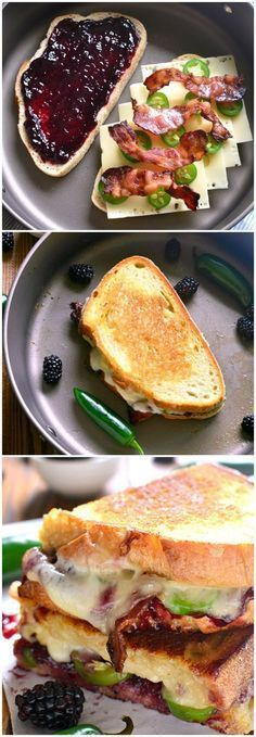 BLACKBERRY BACON GRILLED CHEESE #grilling