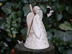 Figura de cerámica cerámica Ángel florón de cerámica
