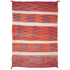 Late Classic Navajo Wedge Weave Textile, circa 1880 | From a unique collection of antique and modern north and south american rugs at https://www.1stdibs.com/furniture/rugs-carpets/north-and-south-american/