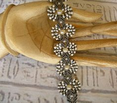 Micro macrame bracelet in bronze taupe and by EgyptianInspirations, $30.99