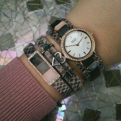 Keep Collective rose gold, stone and snake skin