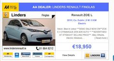 """""""New search page design now live on CBG.ie desktop! Larger images and key partners on each listing! Hope you like it! Renault Zoe, Search Page, Car Keys, Page Design, Read More, Larger, Desktop, Advertising, Live"""