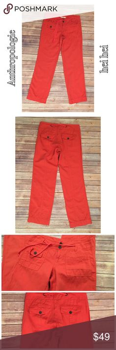 "Anthro Hei Hei 8 ""Cape May"" Coral Linen Bl Pants Anthropologie Hei Hei Coral Pants 🛍For the best deal, I offer a bundle discount! Please check out my closet for other fabulous items!🛍 Anthropologie Pants"