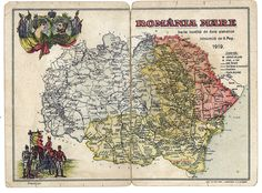 Map of Greater Romania in 1919 Historical Maps, Vintage World Maps, Photos, Bucharest, Pictures