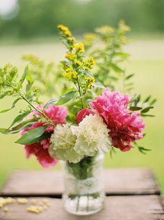 mason jar floral ideas http://www.weddingchicks.com/2013/09/12/rustic-after-the-wedding-shoot-ideas/