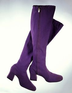 Color Morado - Purple!!! Purple Canvas boots by Biba, 1969.