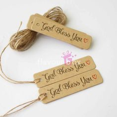 Kraft Paper Tags God Bless You Gift Tag by flavourbox Paper Tags, Kraft Paper, Christmas Tag, Christmas Wedding, Love Tag, Kraft Boxes, Swing Tags, God Bless You, Tag Design