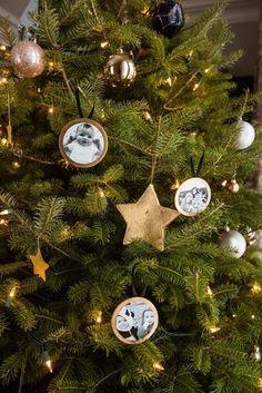 Photo Christmas Ornaments, Handmade Christmas Tree, Christmas Tree Decorations, Christmas Crafts, Christmas Trees, Christmas Stuff, Diy Photo Ornaments, Homemade Ornaments, How To Make Ornaments