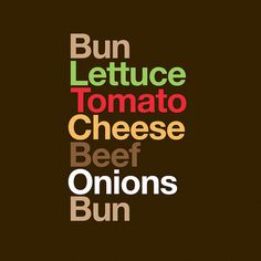 Typography Sandwiches