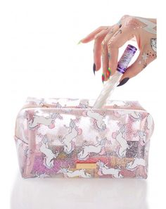 #DollsKill #lookbook #photoshoot #Skinnydip #glitter #unicorn #makeup #bag #pouch #cute