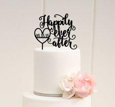 Heureusement jamais après Wedding Cake Topper par ThePinkOwlDesigns