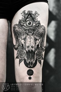 neo traditional tattoo goat - Google Search
