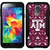 Texas A&M Tribal design on a Black OtterBox Commuter Series Case for Samsung Galaxy S5 //  Description This Otterbox Commuter Series case is compatible with the Samsung Galaxy S5. The design is printed using our HighColor process. Not a sticker or skin. H